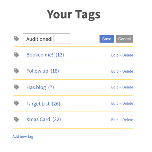 Your Tags